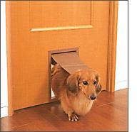 ペット用くぐり戸付ドア 住宅リフォーム